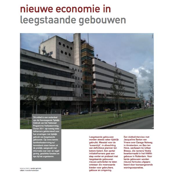 Artikel Nieuwe economie in oude gebouwen